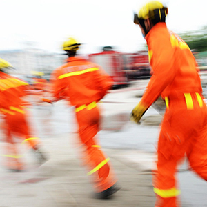 A team of firefighters